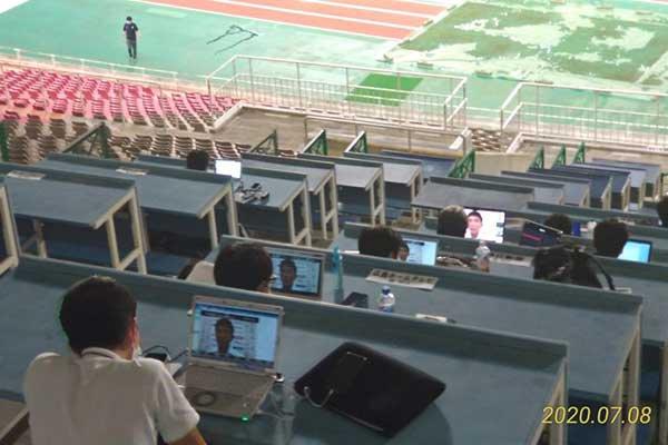 試合毎に簡単に設置可能であり、動画配信が可能な安定したネットワーク環境を構築することが出来た